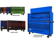 "DX SERIES 72"" 17 DRAWER ROLLER CABINETS & EXTREME POWER WORKSTATION® HUTCHES"